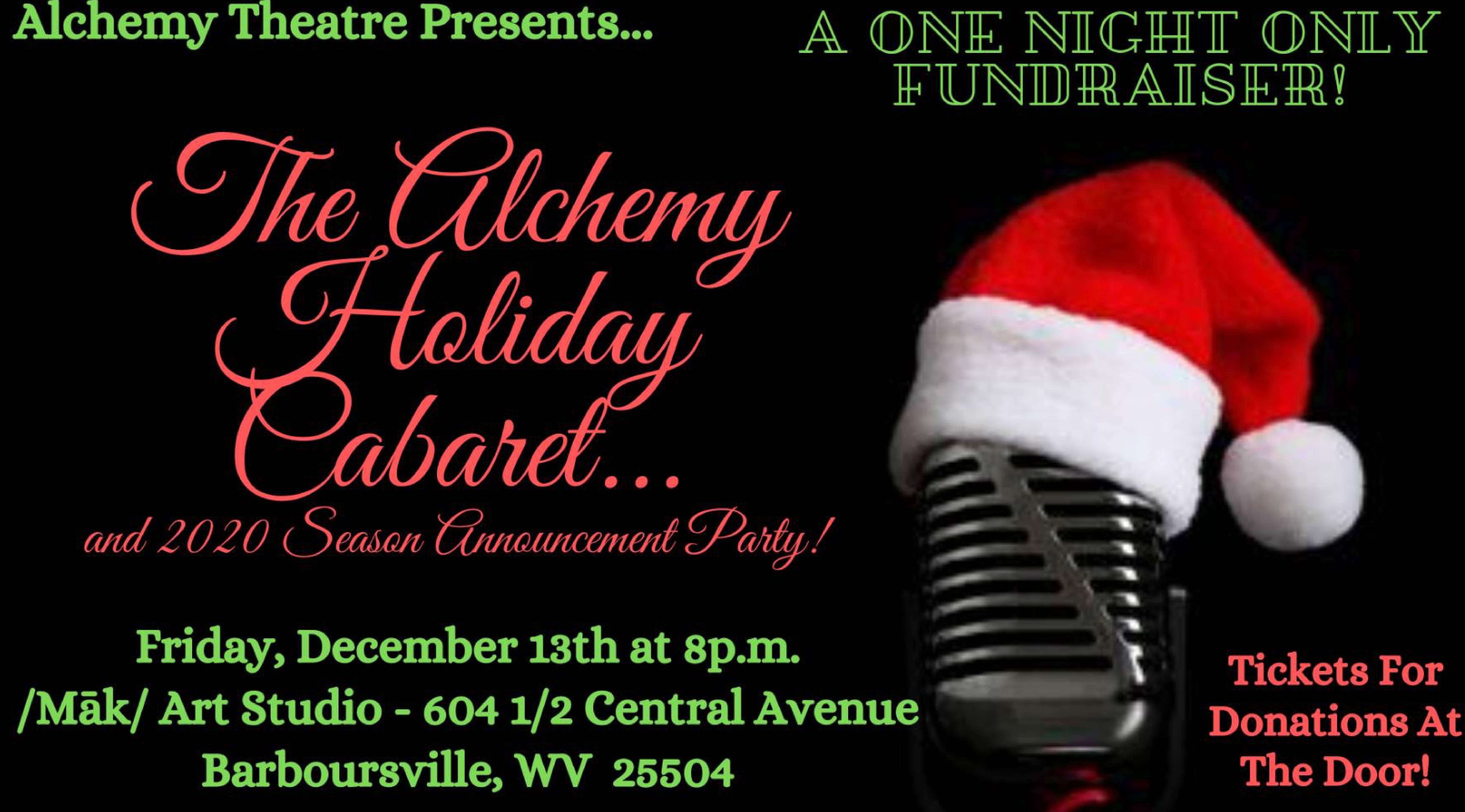 Alchemy Presents - A Holiday Cabaret & 2020 Season Party